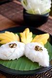 Sticky rice mango. Thai Dessert Royalty Free Stock Image