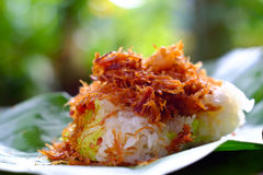 Sticky rice, pork Royalty Free Stock Images
