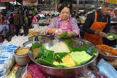 Sticky rice seller Royalty Free Stock Photography