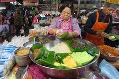 Sticky rice seller Royalty Free Stock Photography