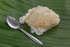 Sticky rice with steamed custard Royalty Free Stock Images