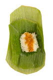 Sticky rice topped fish custard Stock Images