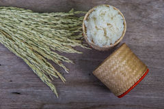 Sticky rice wicker Stock Photos