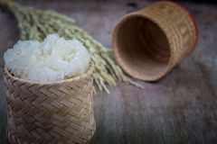 Sticky rice wicker Stock Photo