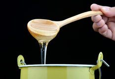 Sticky of sweet sugar syrup Stock Image