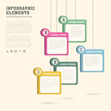 Sticky tag infographics design Stock Photos