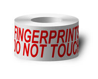 Sticky tape. With 'do not touch royalty free illustration
