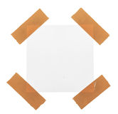 Sticky tape on note paper isolated Royalty Free Stock Images