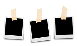 Sticky tape on paper photo frame  Royalty Free Stock Photos