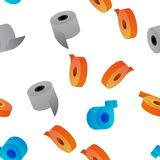 Sticky Tape Rolls Vector Seamless Pattern vector illustration