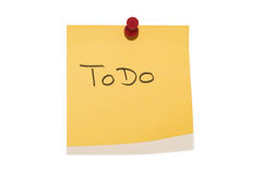 Sticky ToDo Royalty Free Stock Photos
