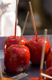 Sticky toffee apples Stock Photography