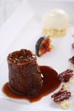 Sticky toffee pudding dessert Royalty Free Stock Image