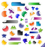 Sticky Vector Label Labels Sticker Set Design Tag Memo Note Paper Blank Message Shapes Badges Shape Badge Page Peel Stick Adhesive Stock Photos