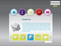Sticky web template Stock Photo