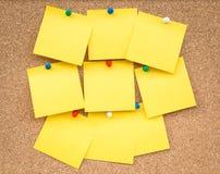 Sticky yellow blank note Stock Photo