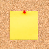Sticky yellow blank note royalty free stock photography