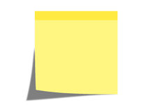 Stickynote Royalty Free Stock Image