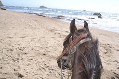 Stiefel auf dem Strand Lizenzfreies Stockfoto