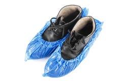 Stiefel in den blauen Stiefeln stockfoto