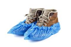 Stiefel in den medizinischen Schuhen lizenzfreie stockfotografie