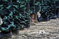 Stiefel der Armee Stockbild