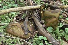Stiefel zurückgelassen Stockfotos