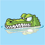 Stiekeme Gator Royalty-vrije Stock Foto's