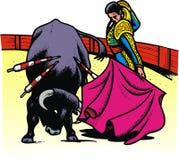 Stier in arena Royalty-vrije Stock Foto's