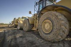 Stier-Bulldozer auf einer Baustelle Lizenzfreie Stockbilder