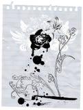 Stier en bloem Royalty-vrije Stock Afbeeldingen