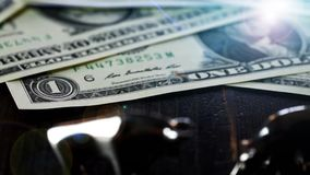 Stier en de Dollar dichte omhooggaande animatie van het baissemarktconcept stock videobeelden