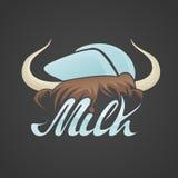 Stier-Hörner mit Kappe Stockfoto