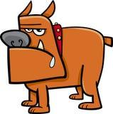 Stier-Hundekarikaturillustration Lizenzfreie Stockbilder
