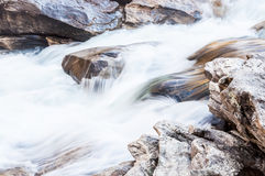 Stier-Schleuse auf dem wilden und szenischen Fluss Chattooga Stockfoto