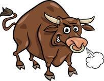 Stier-Vieh-Karikaturillustration Lizenzfreies Stockfoto