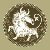 Stier, Zeichen des Tierkreises Stockbilder