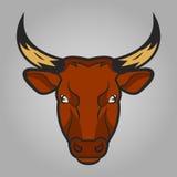 Stieren hoofdpictogram Stock Foto