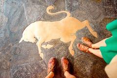 Stierensymbool in Turijn royalty-vrije stock afbeeldingen