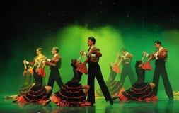 Stierenvechten ruiter-Spaans de flamenco-de werelddans van Oostenrijk Stock Foto
