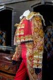 Stierenvechter-kostuum stock fotografie
