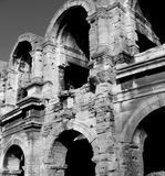 Stierkampf-Arena in Arles, Provence, Frankreich Stockfotografie
