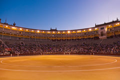 Stierkampfarena corrida in Madrid Spanien Lizenzfreie Stockbilder