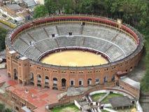 Stierkampfarena in der Mitte von Bogota stockbilder