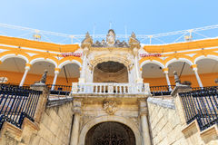Stierkampfarena, plaza de Toros in Sevilla, La Maestranza Lizenzfreie Stockfotografie