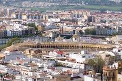 Stierkampfring in Sevilla, Spanien lizenzfreie stockfotos