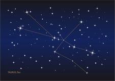 Stierkonstellation stock abbildung
