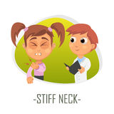 Stiff neck medical concept. Vector illustration. vector illustration
