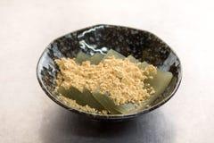 Stiffled seaweeds called Okyuuto or Okyuto Stock Images