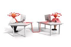 Stiffs_Office di funzionamento Romance Fotografie Stock
